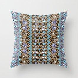geometric ethnic ornament Throw Pillow