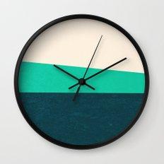 Stripe II Fresh Mint Wall Clock