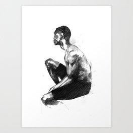 Seated Guy Art Print