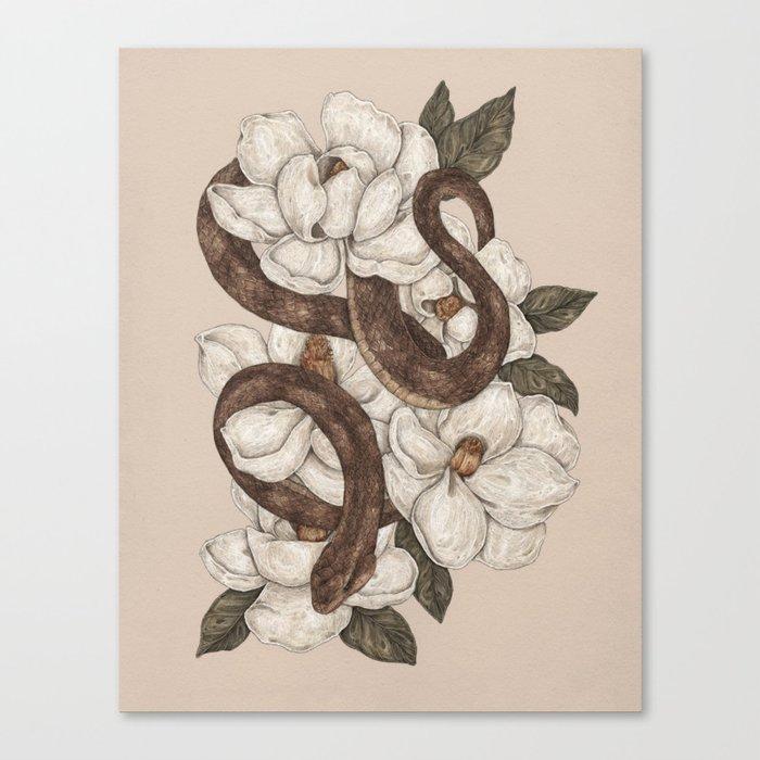 Snake and Magnolias Leinwanddruck
