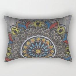 Singing Bird Mandala Rectangular Pillow