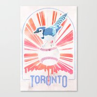 toronto Canvas Prints featuring Toronto by Sweep