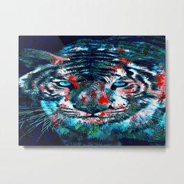 Artistic Tiger Metal Print
