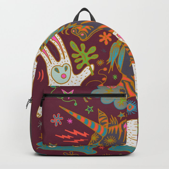 Three Rabbits and a Unicorn Backpack