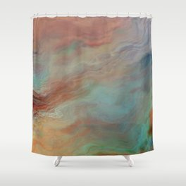 The Heart Feels What the Heart Feels: Abstract Shower Curtain