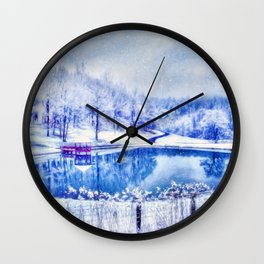 Winters Calm Wall Clock