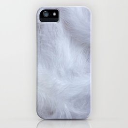 Soft white feathers background iPhone Case