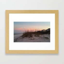 Sunset Behind the Sea Oats Framed Art Print