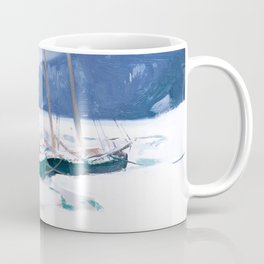 Clarence Gagnon - Schooners in Ice Floes - Canada, Canadian Oil Painting - Group of Seven Coffee Mug