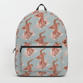 Gazelle - Winter Blue and Brown Backpack
