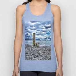 Cloudy day at lake lucerne Unisex Tank Top
