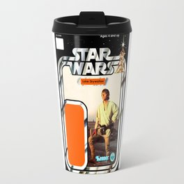 Luke Skywalker (farmboy) Vintage Action Figure Card Travel Mug