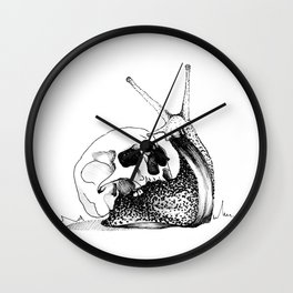 This Skull Is My Home (Snail & Skull) Wall Clock