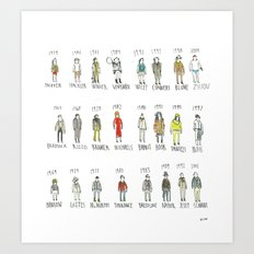 Timelines Art Print
