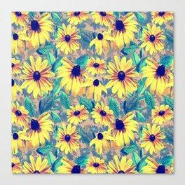 Black-Eyed Susan Pattern 2 Canvas Print