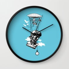 The Skies Are Full Of Strange Things Wall Clock