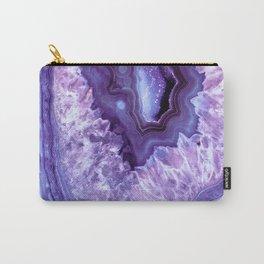 Purple Lavender Quartz Crystal Carry-All Pouch