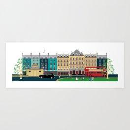 London Clapham Common in Summer Art Print