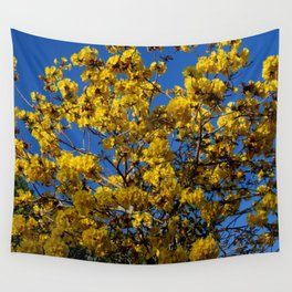 Yellow Tree Fever Wall Tapestry