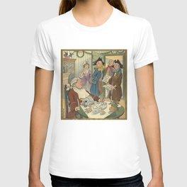 Vintage Christmas Caroling Illustration (1903) T-shirt
