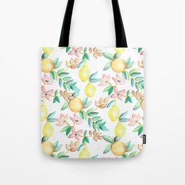 Flowers and Fruits Tote Bag