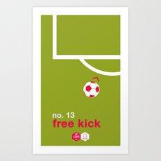 Free Kick (No. 13) Art Print