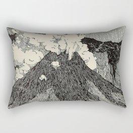 Naturalist Volcano Rectangular Pillow