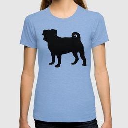 Simple Pug Silhouette T-shirt
