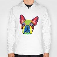 dog Hoodies featuring dog by mark ashkenazi