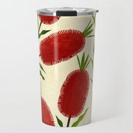 Australian Bottlebrush Red Flowers Travel Mug
