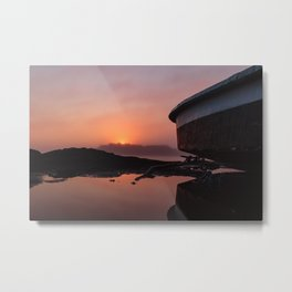 Boating on Mars Metal Print