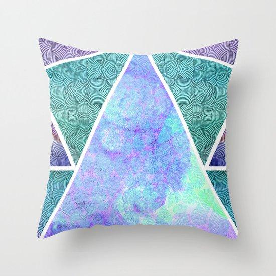 Geometric Reflection Throw Pillow