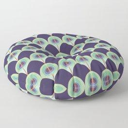 Peacock Feather Art Deco Floor Pillow