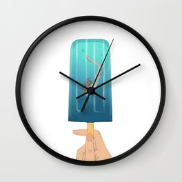 Popsicle Dive Wall Clock