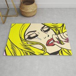 Blondie Crying Comic Girl Rug