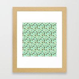 Yorkie Pattern Framed Art Print