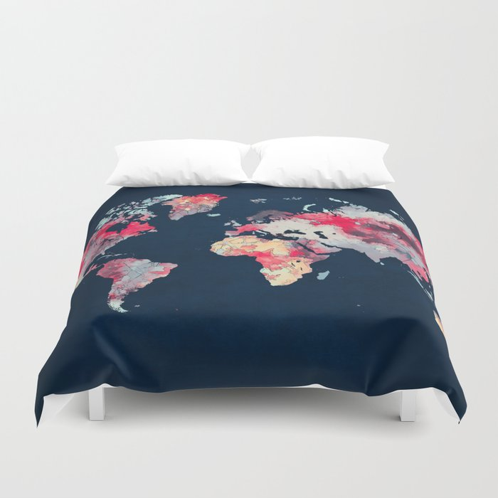 Map69.World Map 69 Duvet Cover By Jbjart