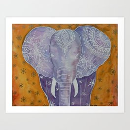 Purple Elephant Art Print