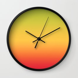 Tropical Colorful Gradient Pattern Wall Clock
