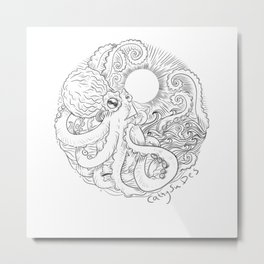 Love my octopus Metal Print