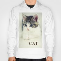 cat coquillette Hoodies featuring Cat by Falko Follert Art-FF77