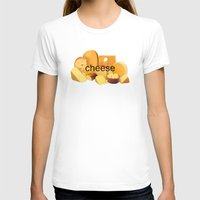 cheese T-shirts featuring cheese by dogbauu