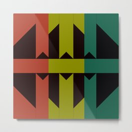 Geometric Encounter Metal Print