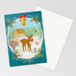 Fawn town Holidays Stationery Cards