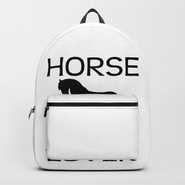 Horse Lover I Love Horses Gift For Rider Black Backpack