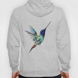 Flying Hummingbird flying bird, turquoise blue elegant bird minimalist design Hoody