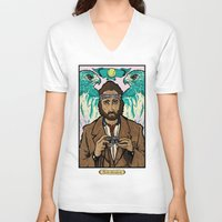 the royal tenenbaums V-neck T-shirts featuring Richie Tenenbaum (Royal Tenenbaums) Movie Poster Print  by Nick Howland
