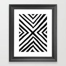 Angled Stripes Framed Art Print