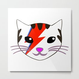 Rebel Star Cat Metal Print