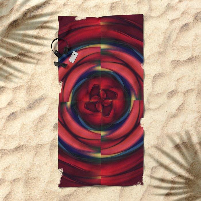 War of the Roses Beach Towel